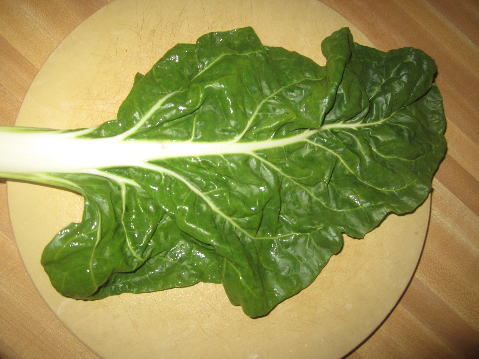 Just a Man in His Kitchen:  Swiss Chard